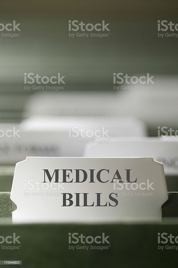 Medical Bills royalty-free stock photo