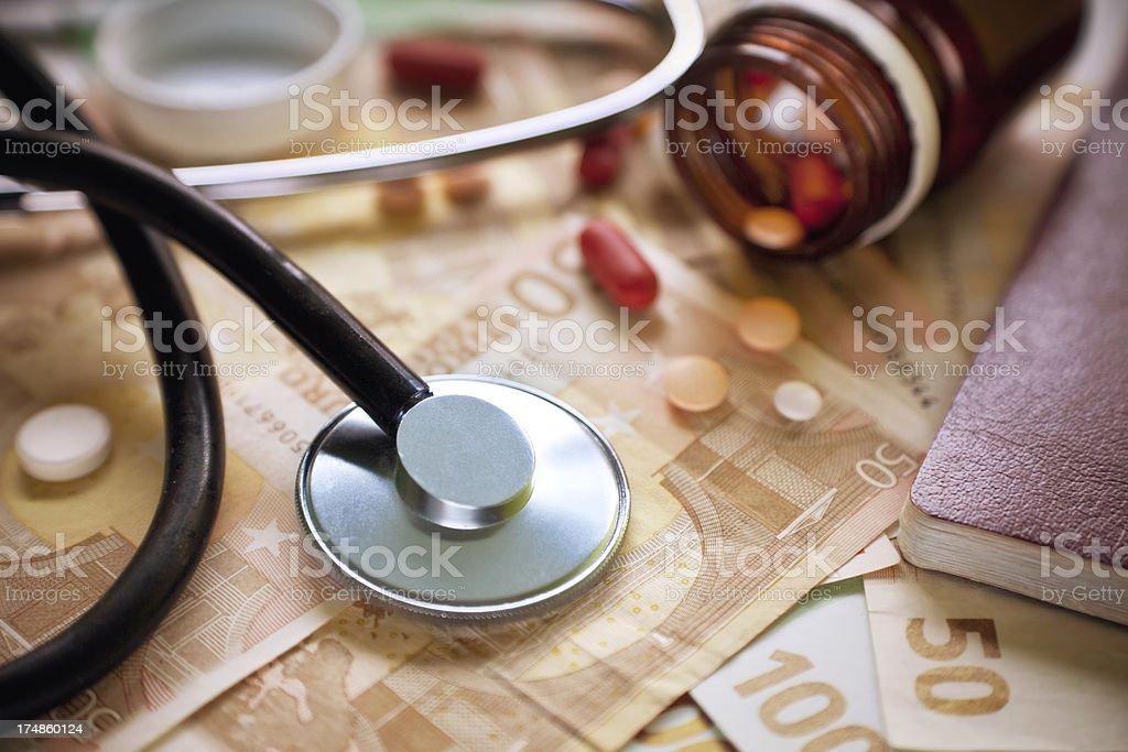 Medical bills royalty-free stock photo