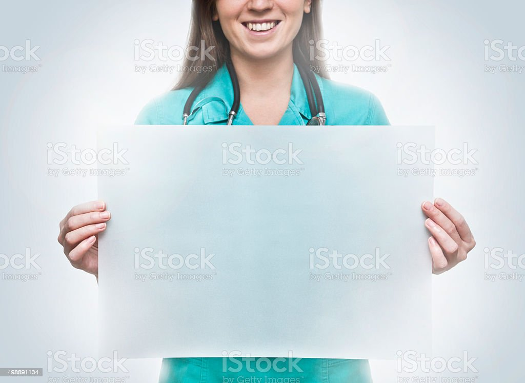 Medical blank sign nurse / Medicine concept (Click for more) stock photo