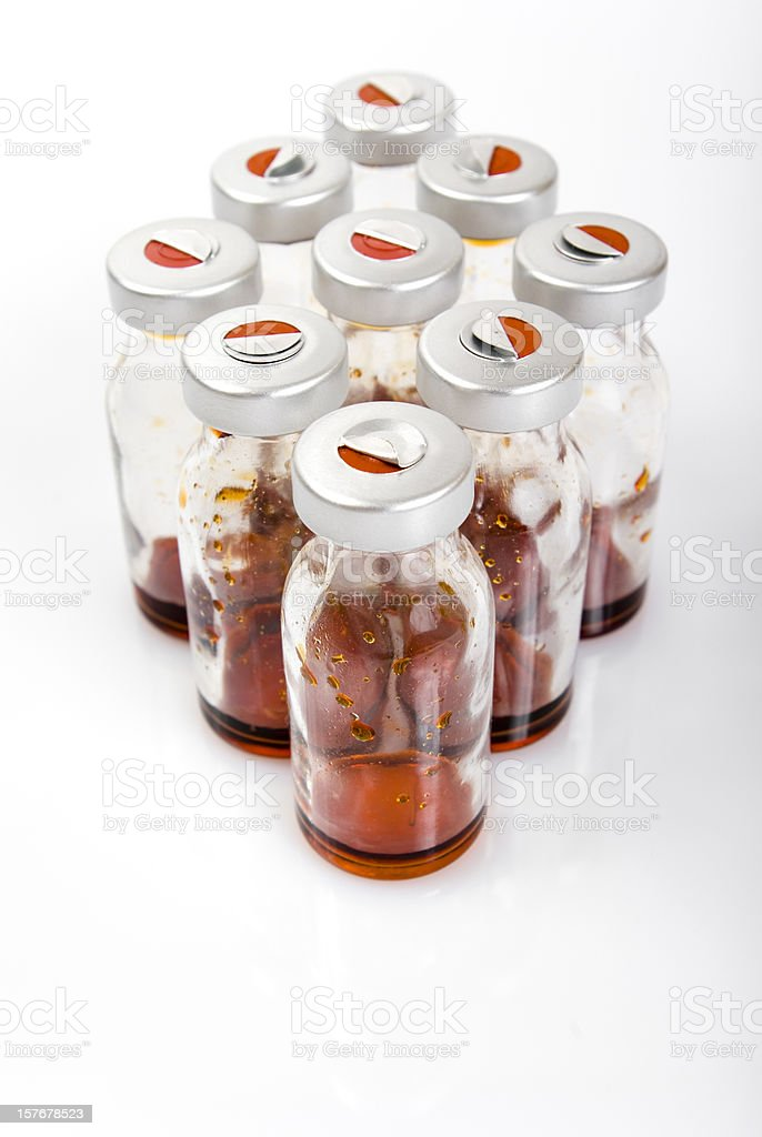 medical bottles with antibiotic stock photo