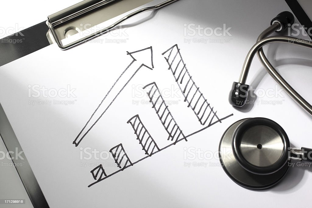 Medical Business Chart stock photo
