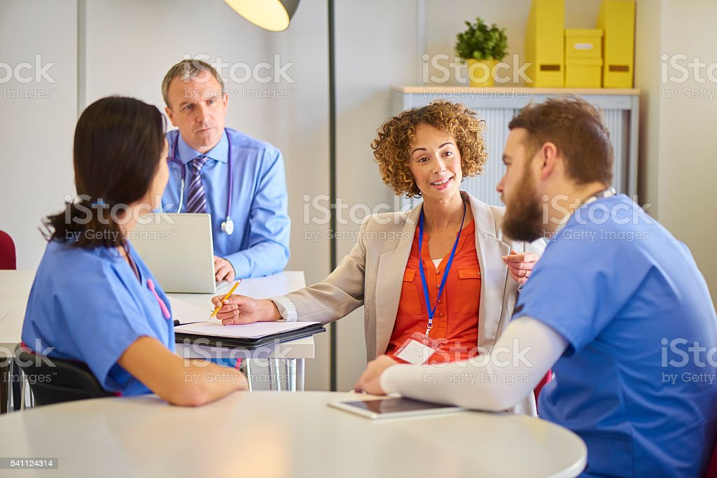 medical business meeting stock photo