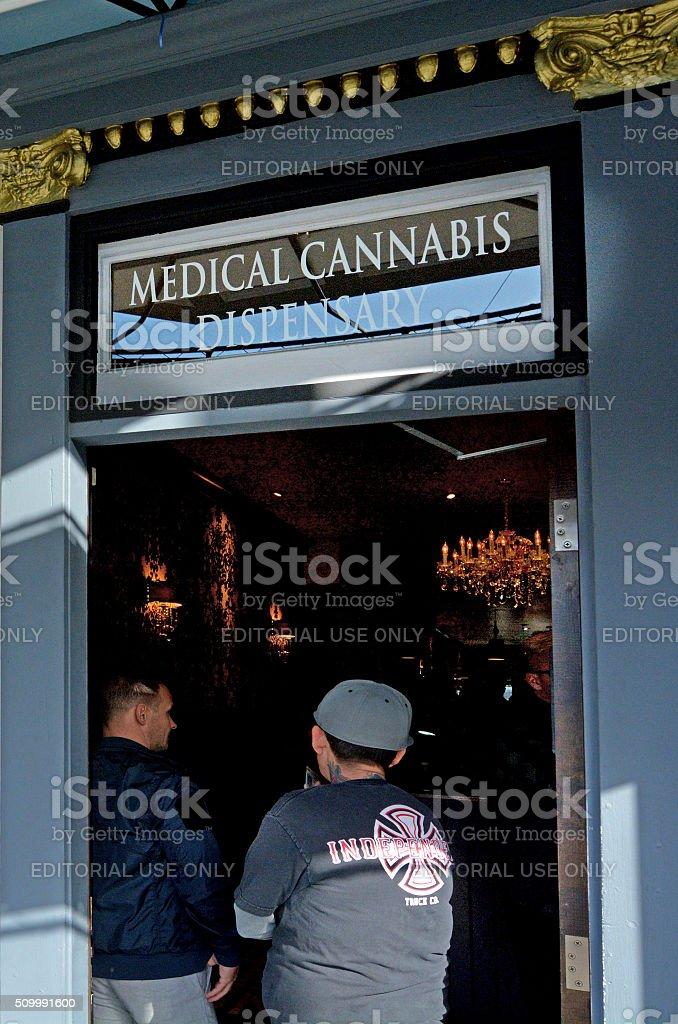 Medical cannabis dispensary in San Francisco California stock photo