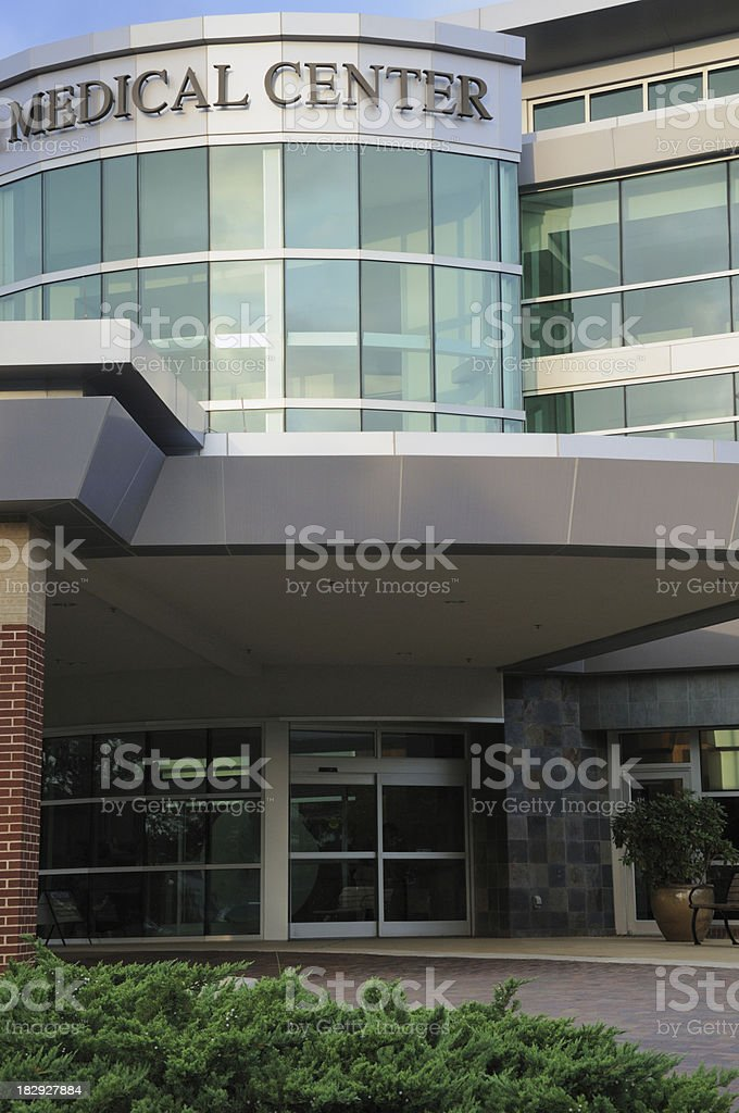Medical Center Entrance stock photo