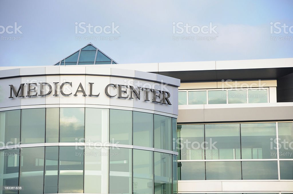 Medical center stock photo