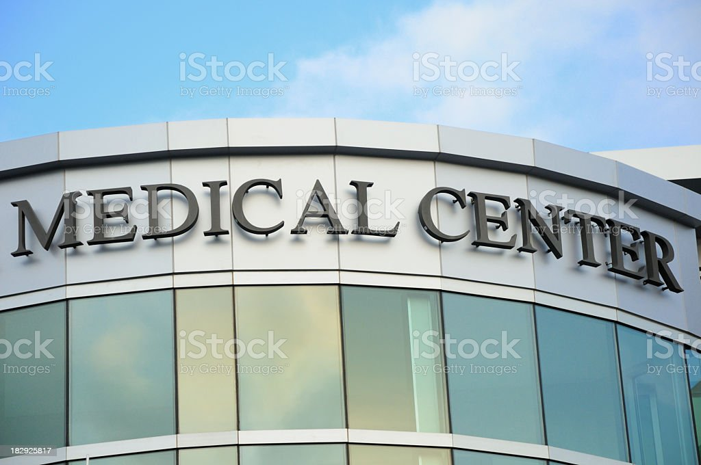 Medical Center Sign royalty-free stock photo