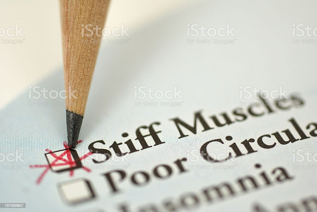 medical chart-stiff muscles royalty-free stock photo