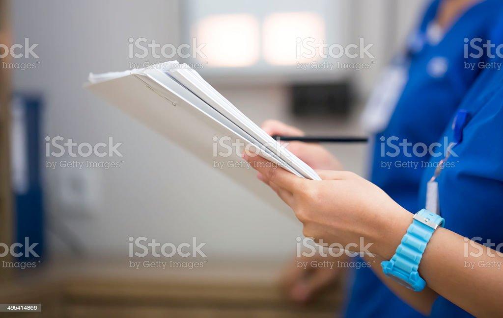 Medical check stock photo