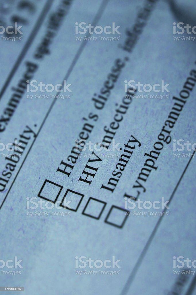 Medical Check Sheet stock photo