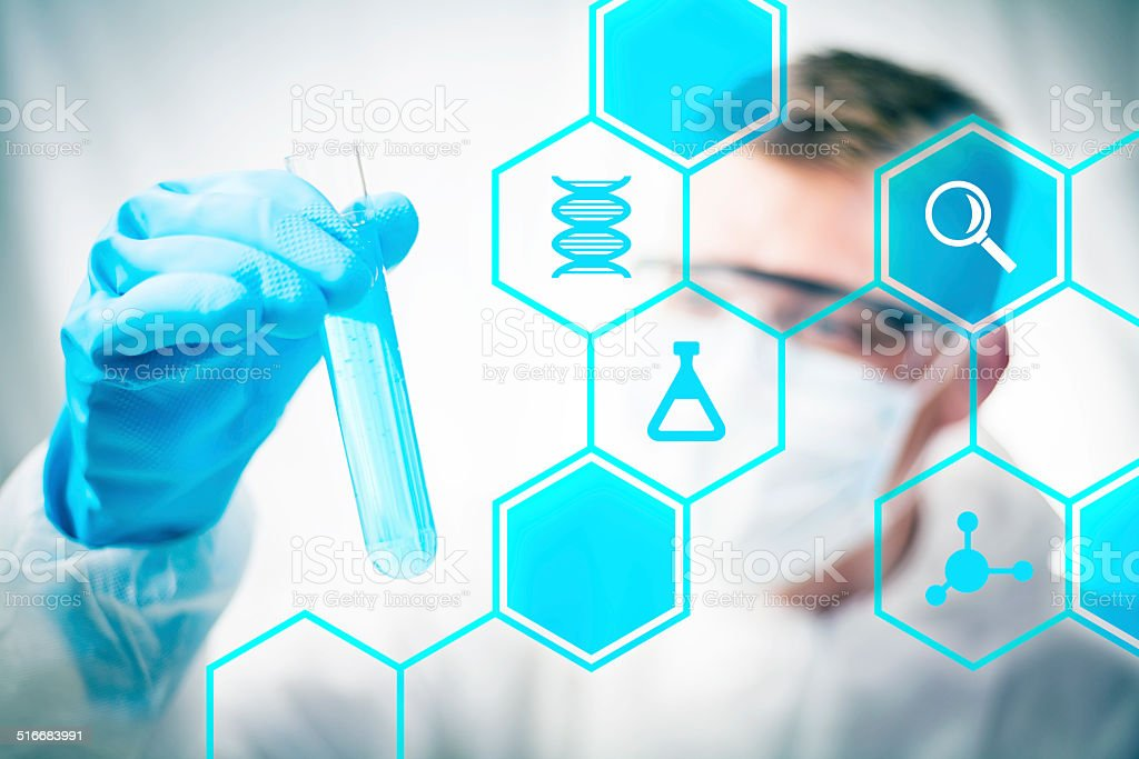 Medical chemistry research stock photo
