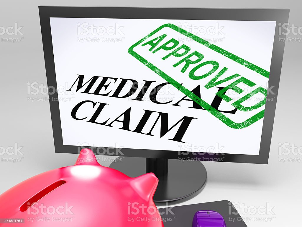 Medical Claim Approved Shows Health Claims Authorised royalty-free stock photo
