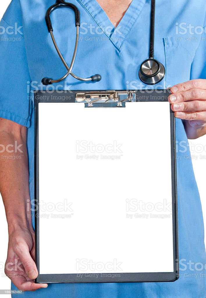 Medical Clipboard. royalty-free stock photo