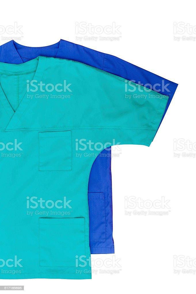 Medical clothing isolated on white stock photo