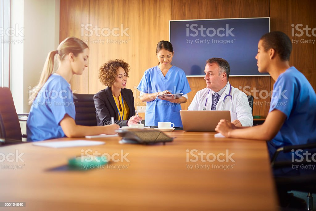 medical concerns aired in meeting stock photo