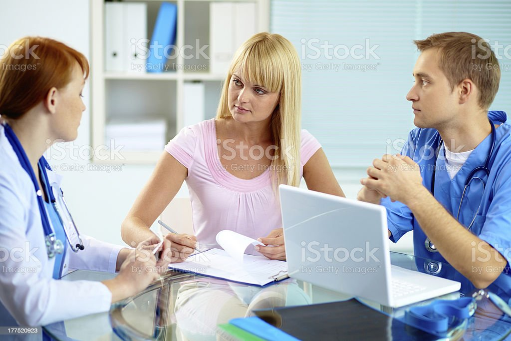 Medical consultation royalty-free stock photo