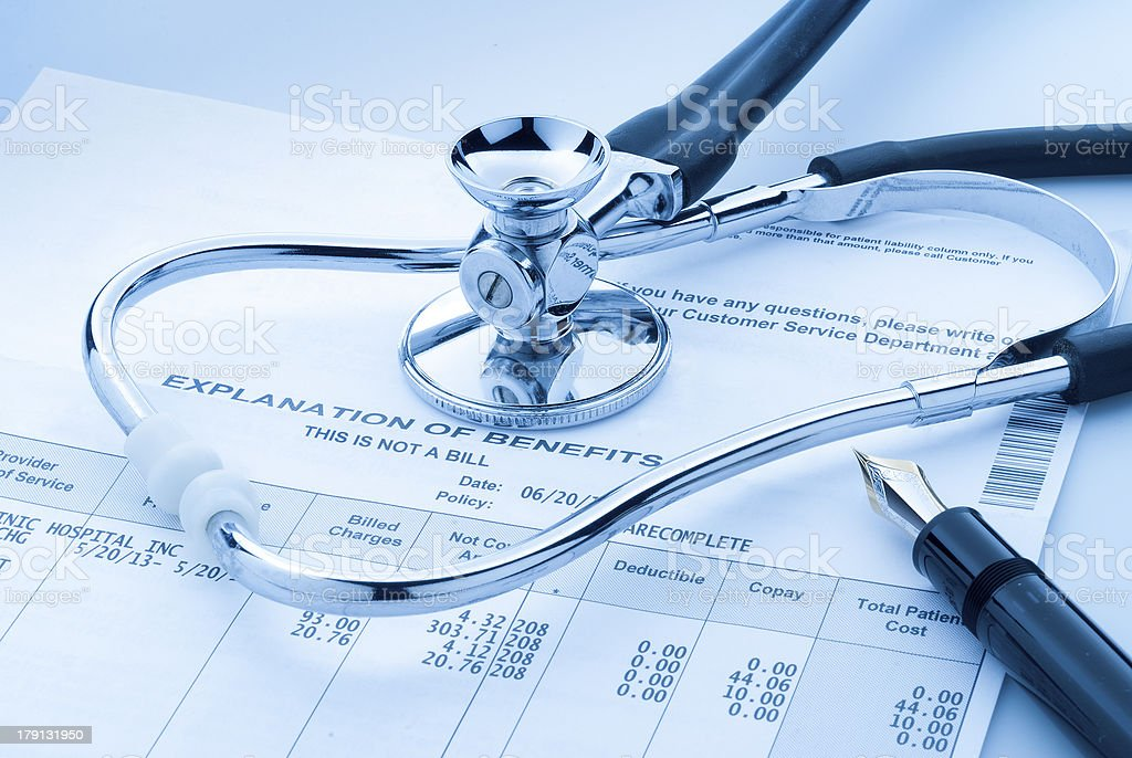Medical cost royalty-free stock photo