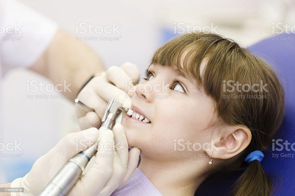 medical dentist procedure of teeth polishing royalty-free stock photo