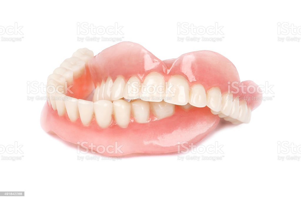 Medical denture stock photo