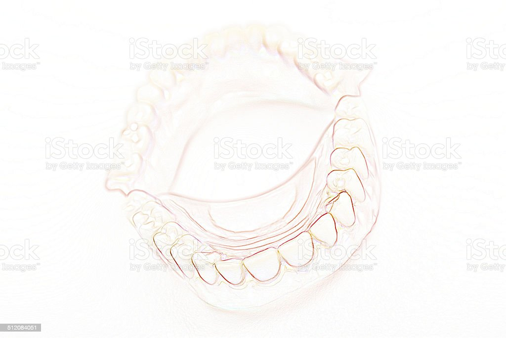 medical denture smile jaws teeth stock photo