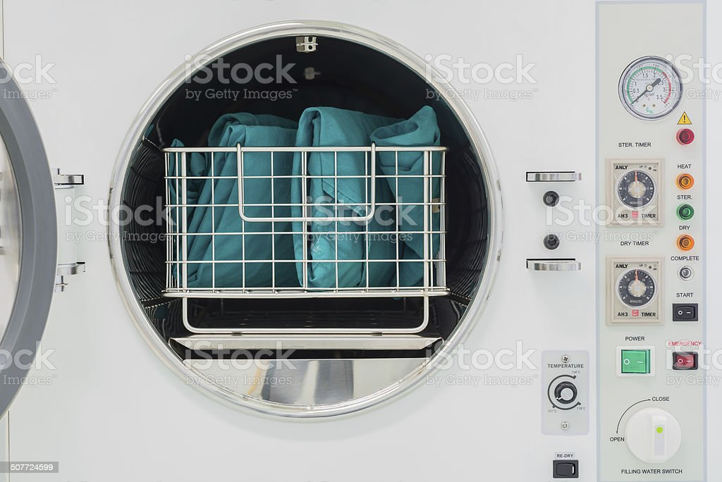 medical device in autoclave stock photo