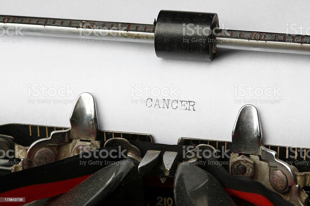 Medical Diagnosis Cancer - Vintage Typewriter royalty-free stock photo