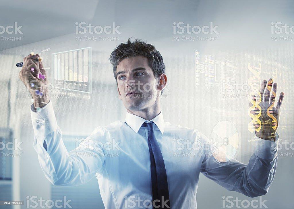 Medical diagnostics of the future stock photo