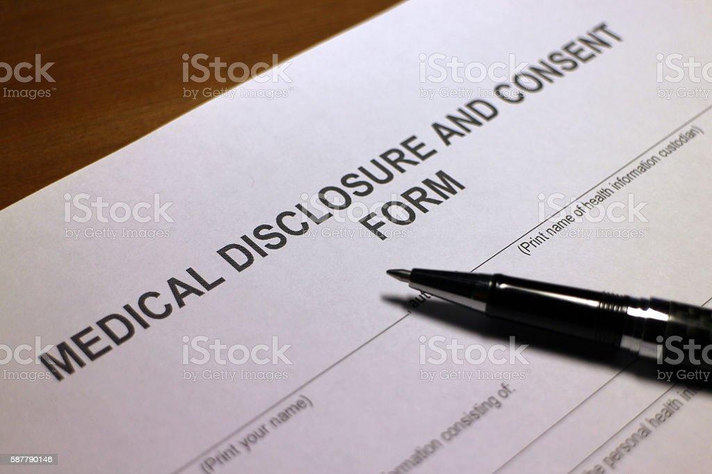 Medical Disclosure stock photo