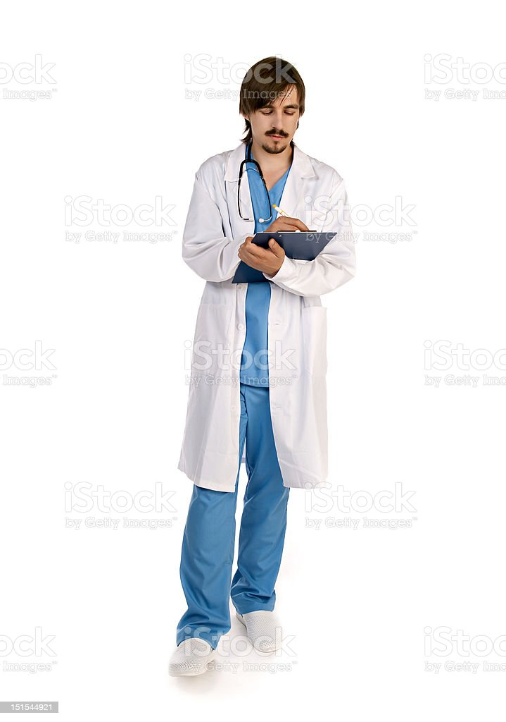 Medical doctor. Isolated over white background royalty-free stock photo