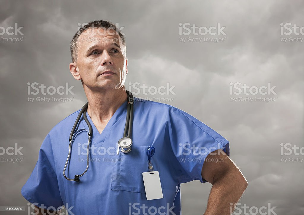 Medical Doctor Looking to the Future royalty-free stock photo