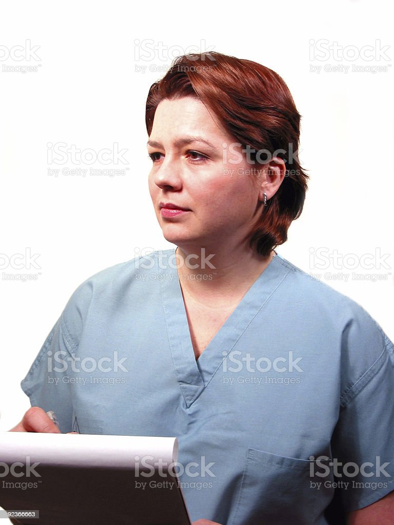 Medical doctor or nurse royalty-free stock photo