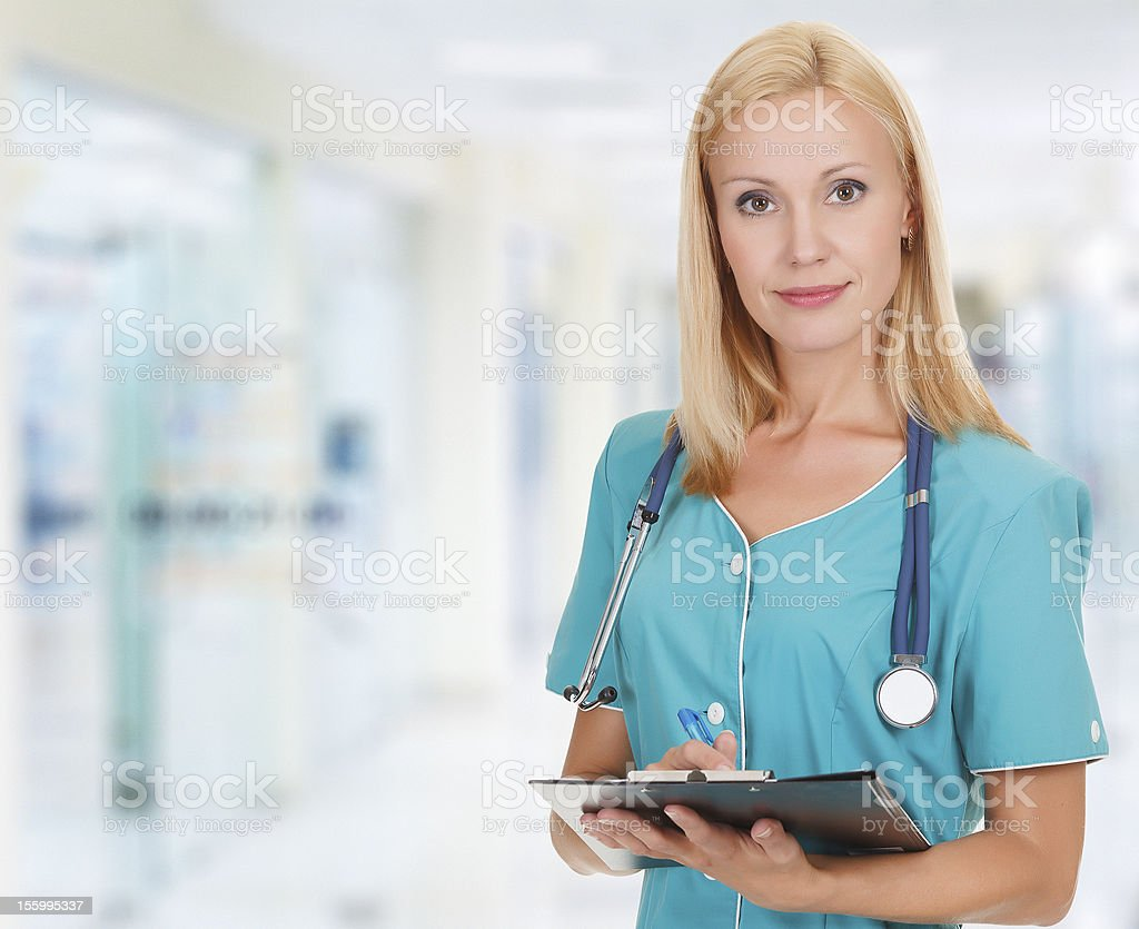 Medical doctor woman royalty-free stock photo
