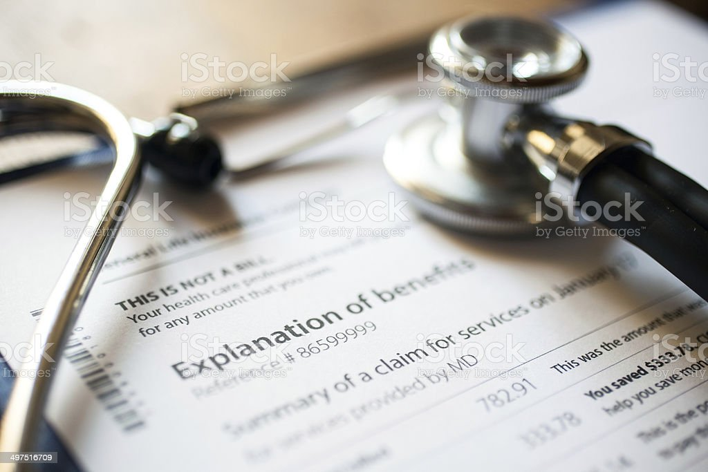 Medical documents stock photo