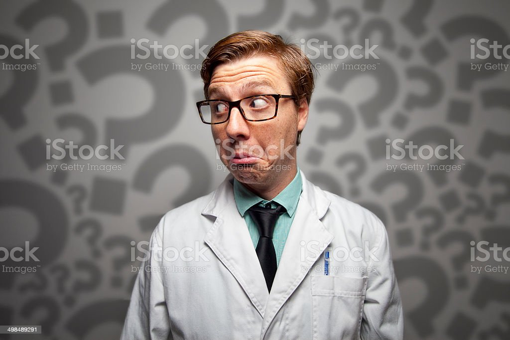 Medical doubts stock photo