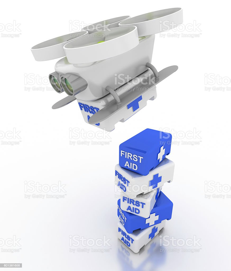 Medical Drone stock photo