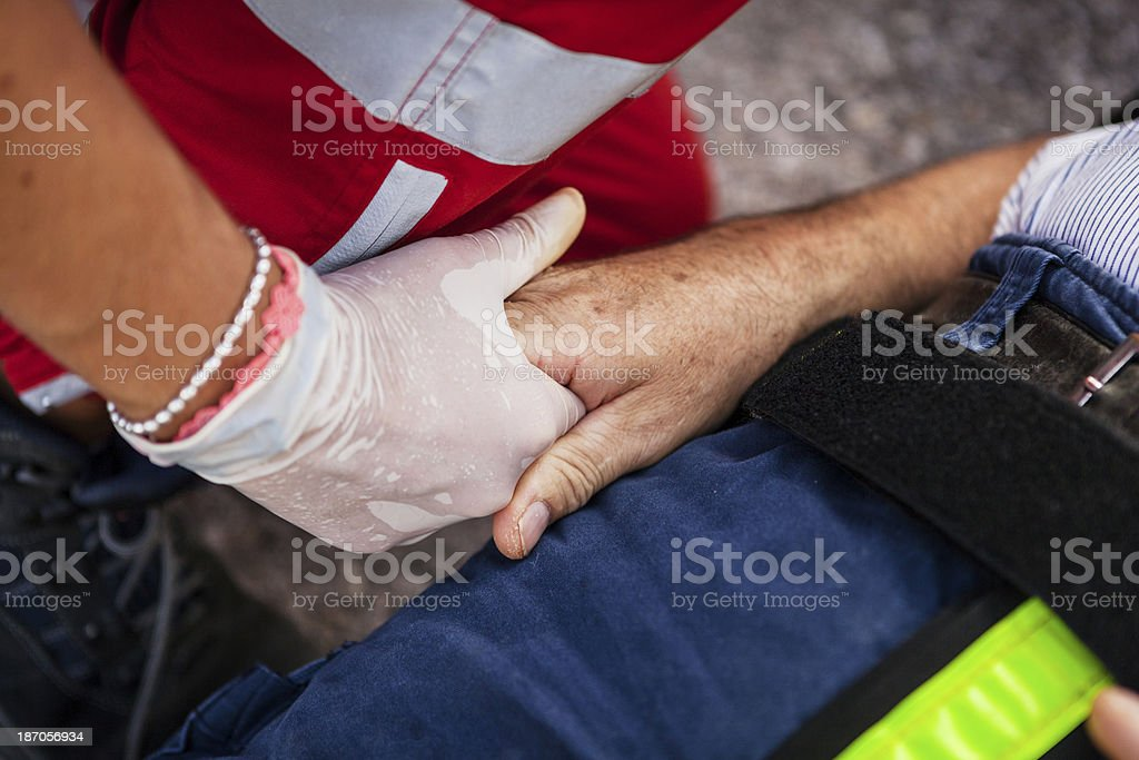 Medical emergency team assistance royalty-free stock photo