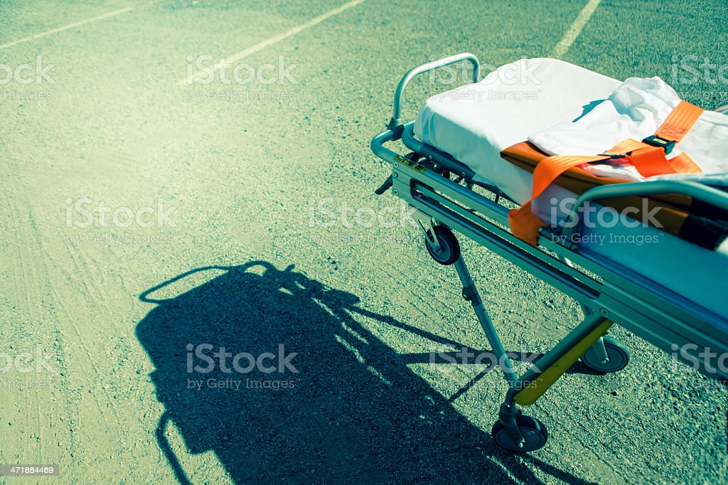 Medical emergency team: the stretcher royalty-free stock photo