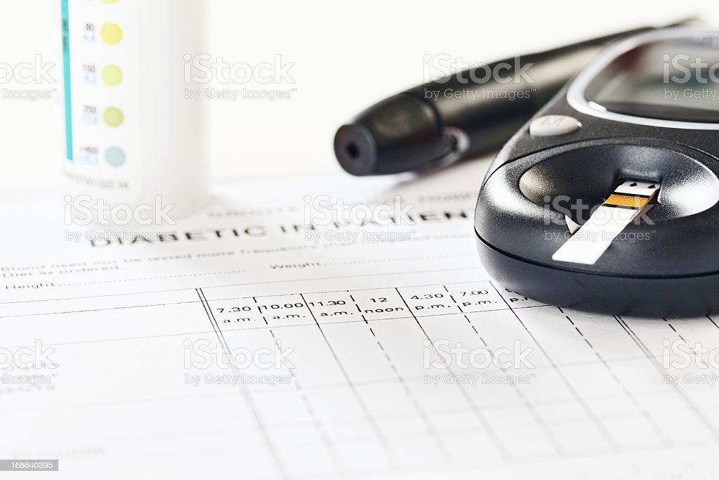 Medical equipment associated with diabetes: a disease on the increase stock photo