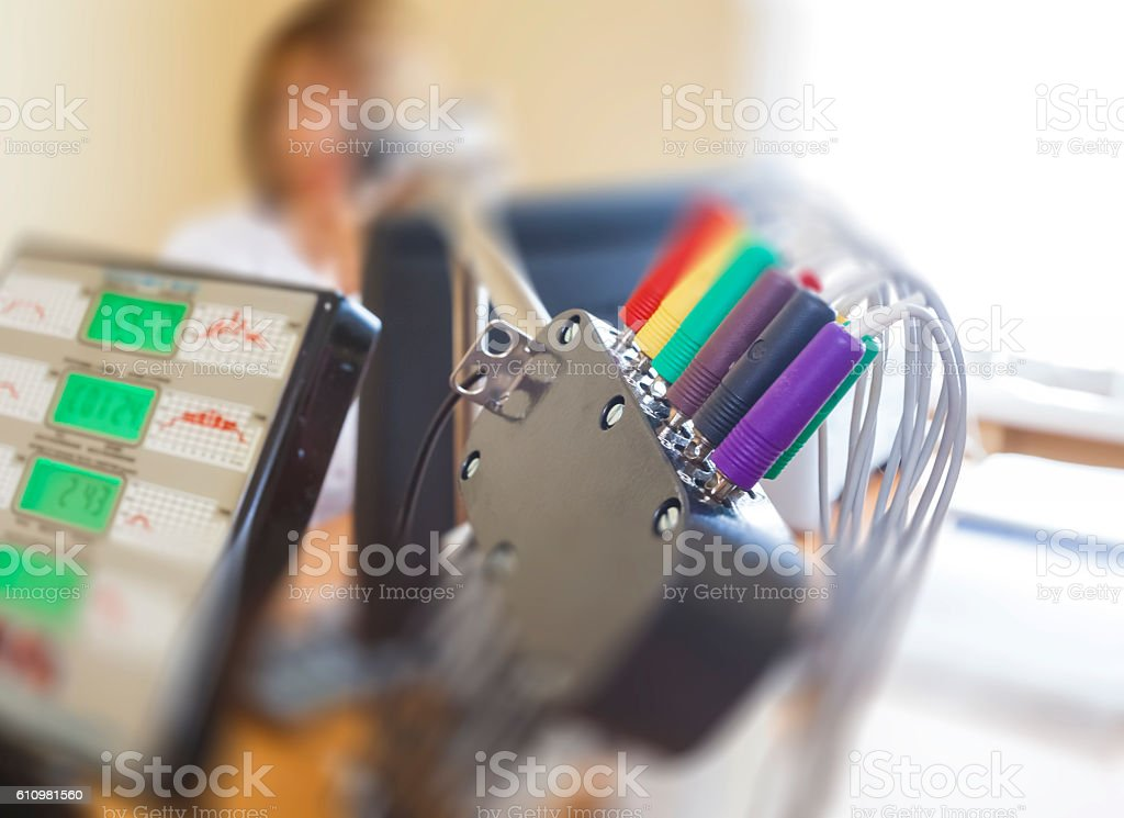 medical equipment in hospital stock photo