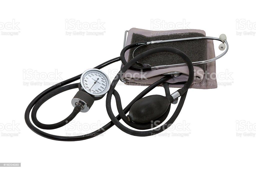 Medical equipment. Sphygmomanometer stock photo