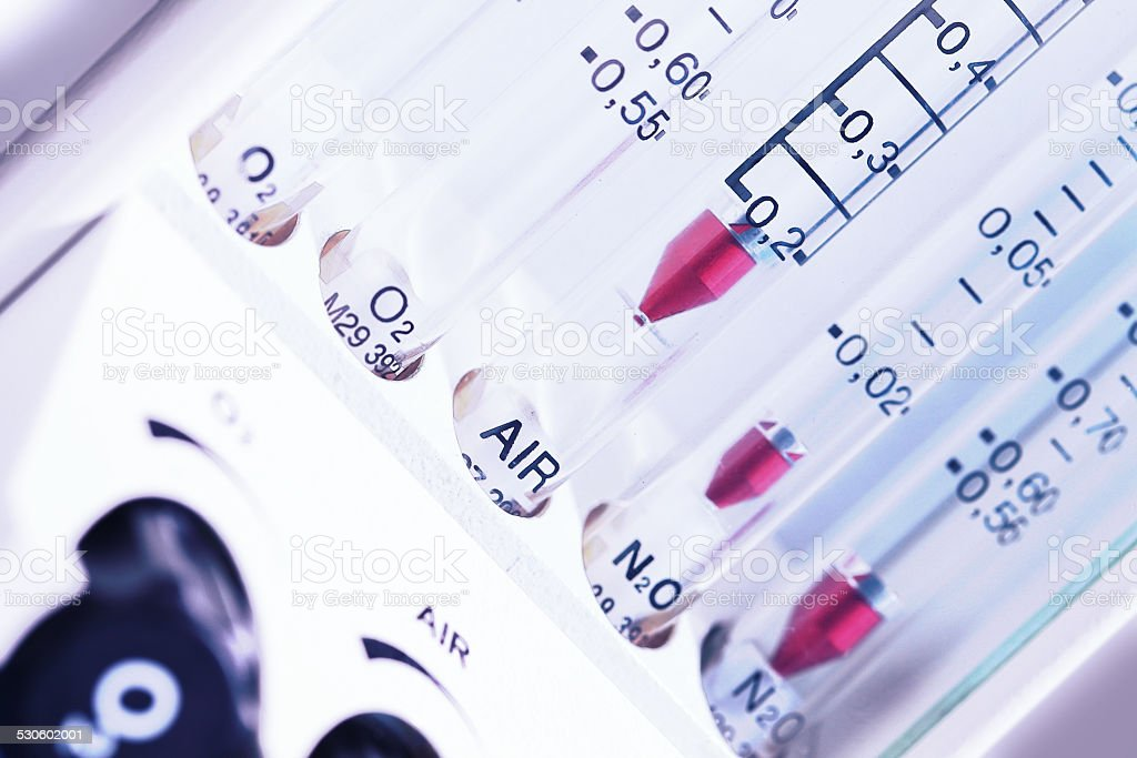 medical equipment. The gas rotameter stock photo