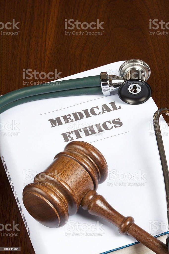 Medical ethics stock photo