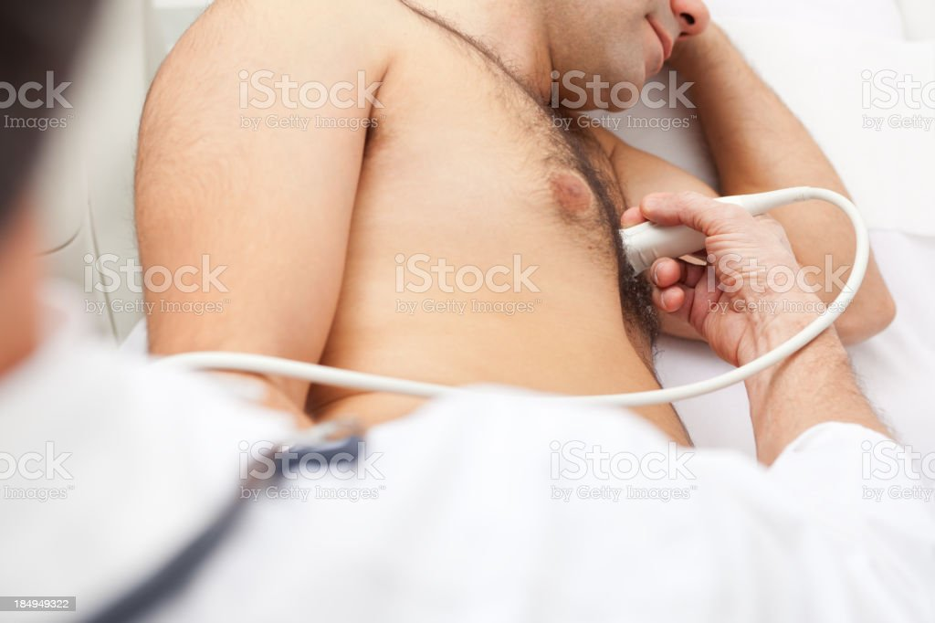 Medical exam, heart ultrasound royalty-free stock photo