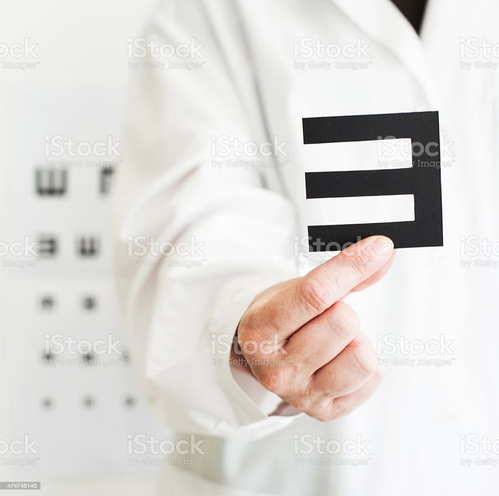 Medical Exam. Ophthalmologist for Children. stock photo