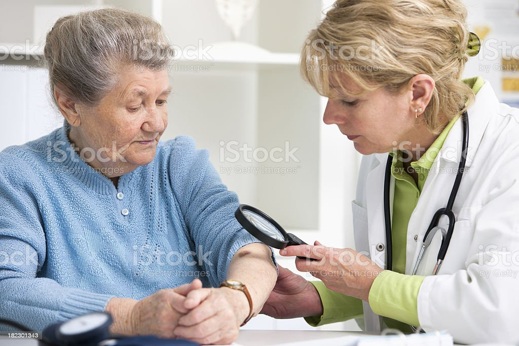 Medical exam stock photo