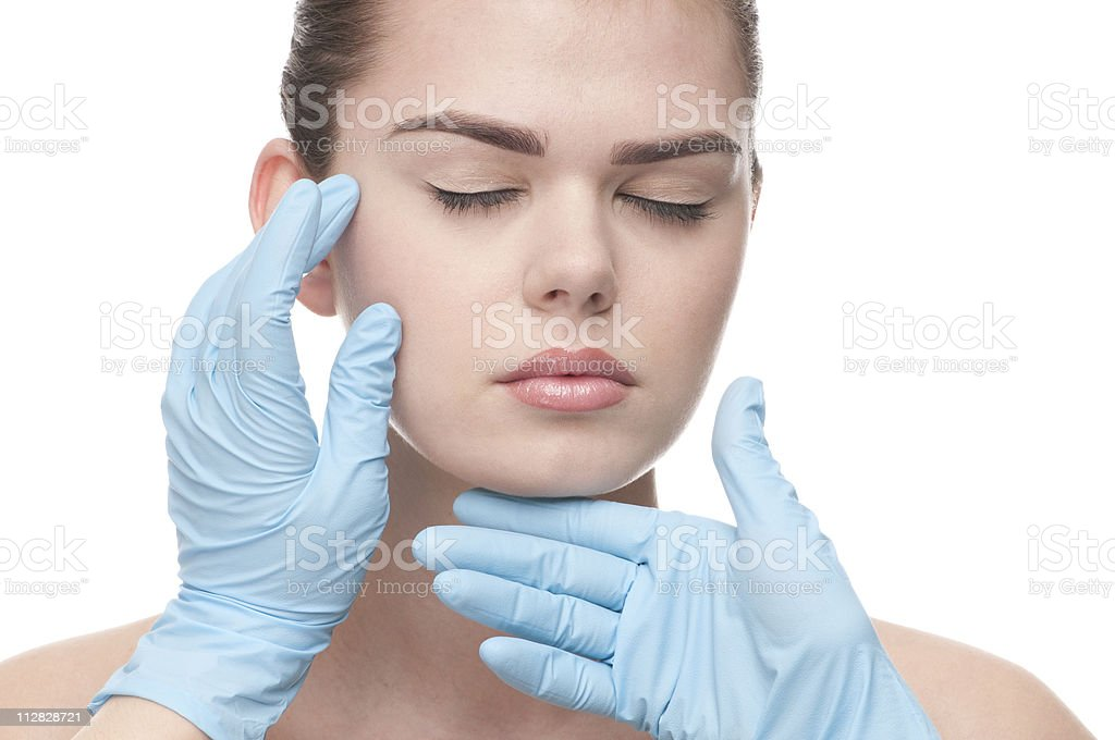 Medical examination face of beautiful woman royalty-free stock photo