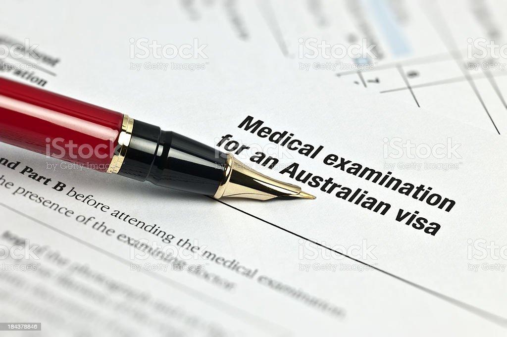 Medical Examination For An Australian Visa royalty-free stock photo
