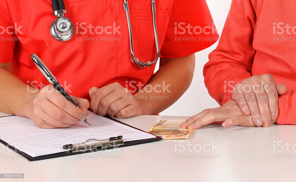 Medical examination form stock photo