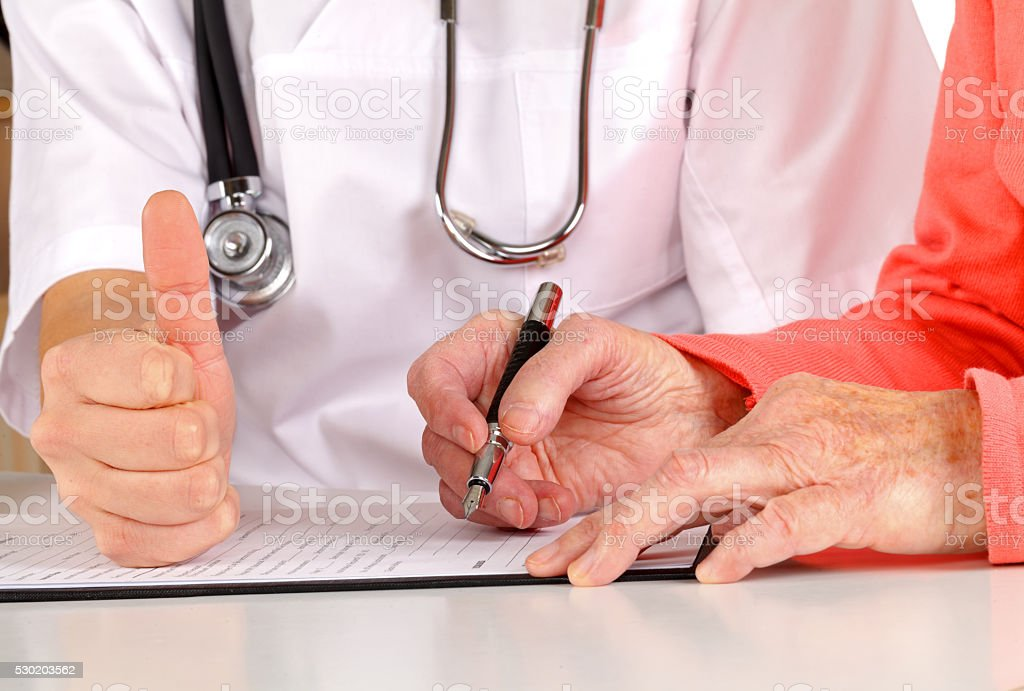 Medical examination form stock photo
