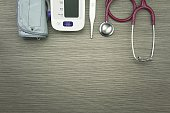 Medical examining equipment for health check-up, Stethoscope, Digital Blood Pressure