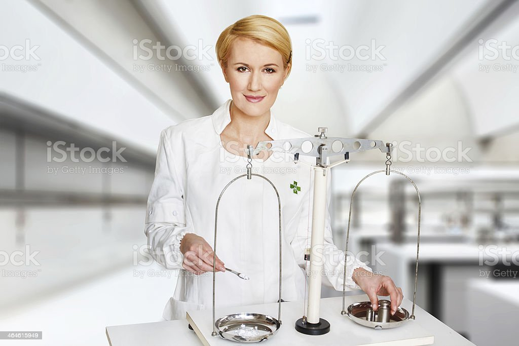 Medical experiment in lab royalty-free stock photo